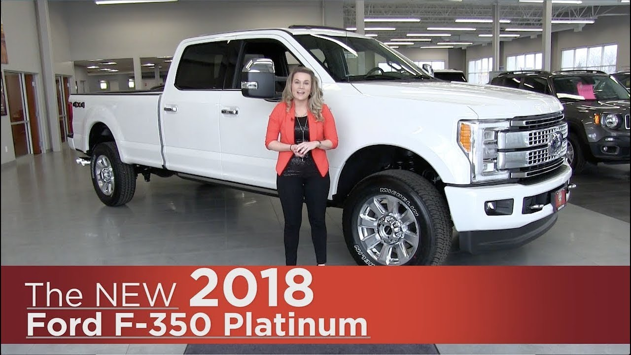 New 2018 Ford F-350 Platinum Super Duty