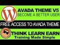 wordpress Avada theme v5 demo content free access how to tutorials