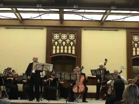 Антонио Вивальди - концерт Ля-Минор для двух скрипок с оркестром, клавир: Часть I Allegro moderato