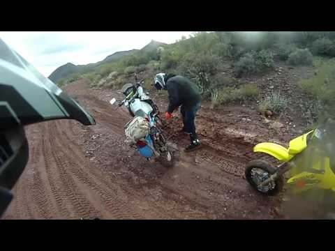 Table Mesa Rd. AZ. Wet and Muddy: DRZ400E/Supermoto-KLR650 Off Road