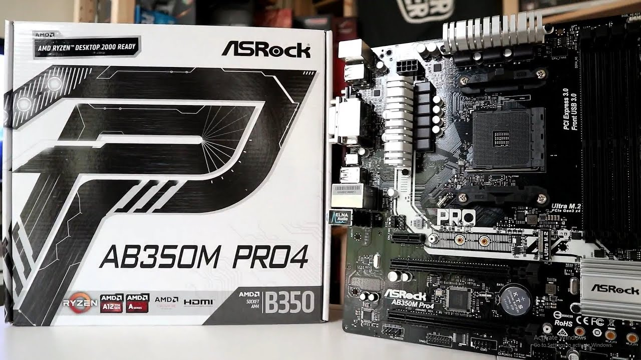 ASRock AB350M Pro4 (AM4) Motherboard Review - FunkyKit
