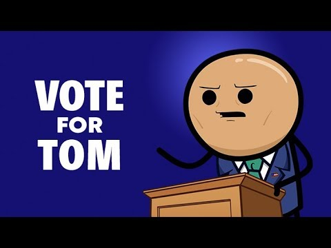 Vote for Tom Harrison - Cyanide & Happiness Shorts - Thank you for your support! You did not throw your vote away!