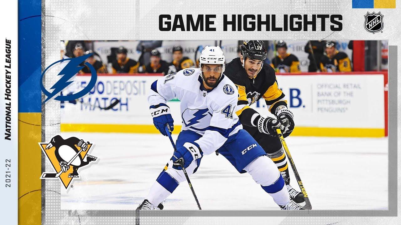 Download Lightning @ Penguins 10/26/21 | NHL Highlights