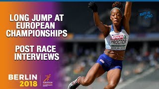 SHARA PROCTOR AFTER LONG JUMP BRONZE AT THE EUROPEAN CHAMPIONSHIPS '18