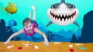 Baby Shark   Sing and Dance!   Animal Song   Nursery Rhymes & Kids Songs АКУЛЕНОК МАЛЫШ