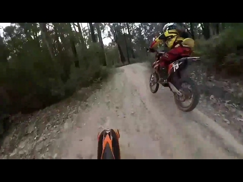 KTM 300 EXC Dirt Bike Trail Riding Feb 2017