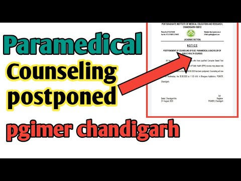 Counseling postponed||Counseling of