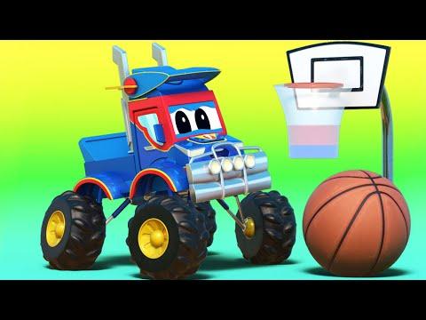 Siêu xe tải - NBA : tai nạn BÓNG RỔ làm hư XE ĐUA - Thành phố xe hơi - Hoạt hình thiếu nhi