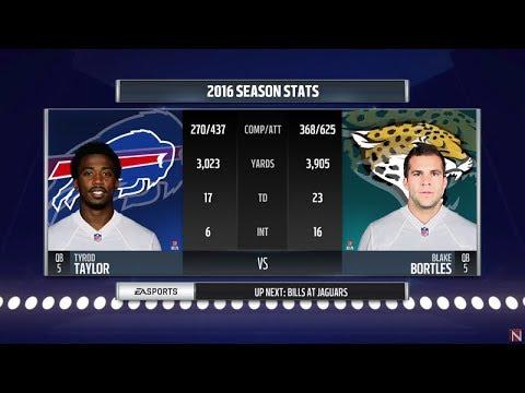 Madden 18 - Wild Card - Buffalo Bills vs Jacksonville jaguars - Full Game Simulation Nation