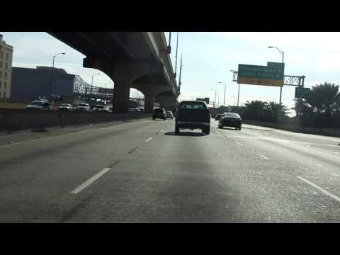 New Orleans Freeway Tour eastbound/outbound