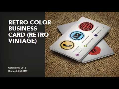 Premium retro vintage business cards templates youtube premium retro vintage business cards templates reheart Image collections