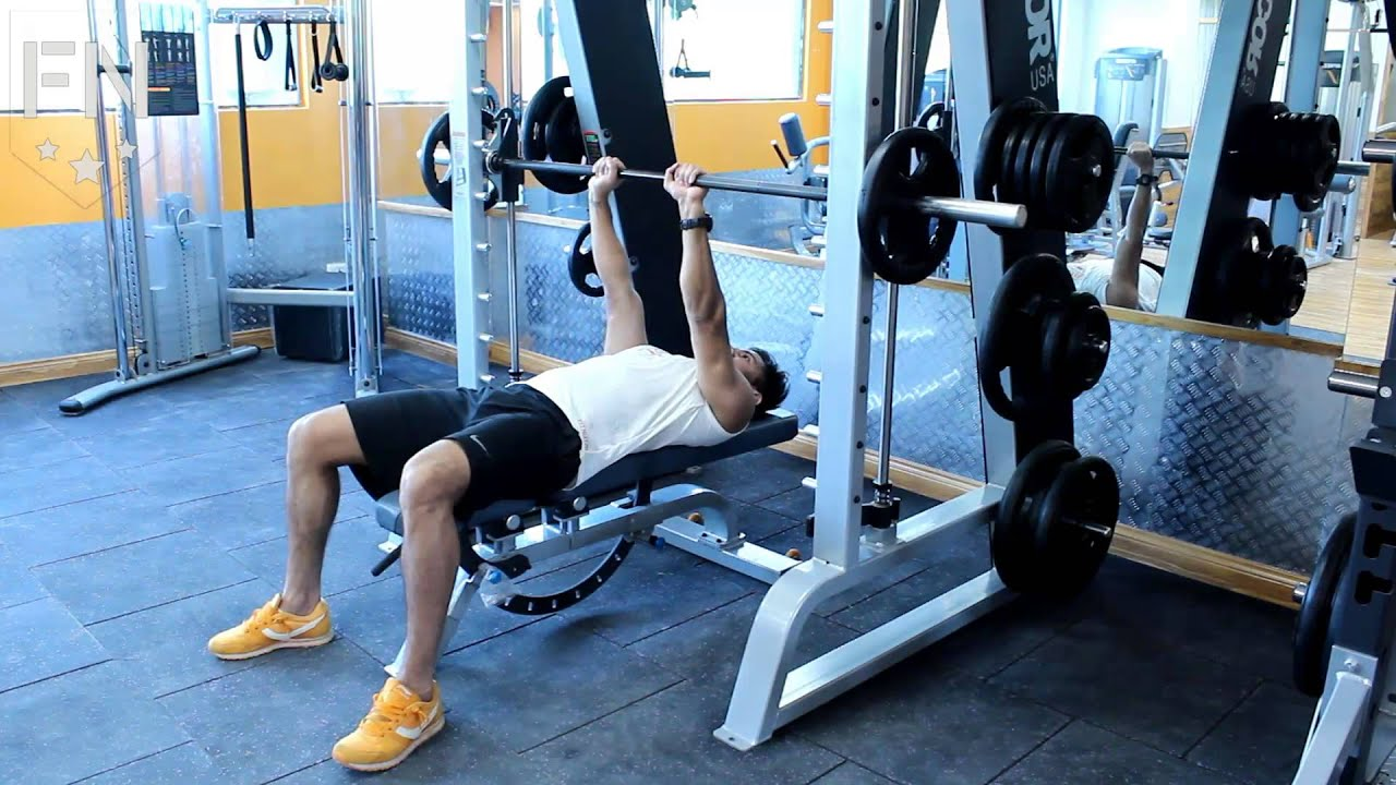 Hammer Grip Bench Press Part - 31: Close Grip Bench Press On Smith Machine