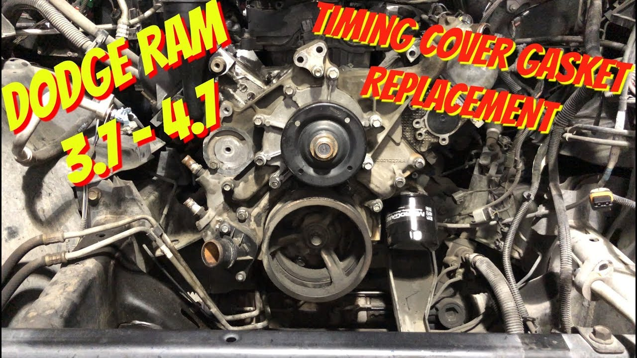 Dodge Ram 37 47 Timing Cover Gasket Removal Water Pump 2500 Sel Fuel Lines