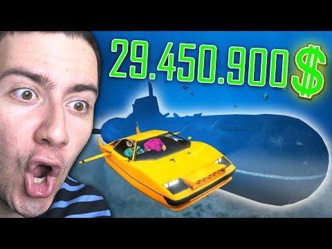 $29,450,900,00 DENİZALTI VE ARAÇ (GTA 5 ONLİNE)
