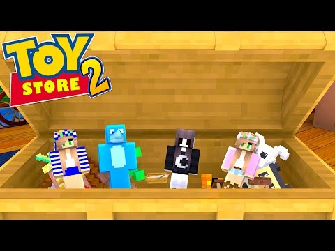 LITTLE KELLY AND SHARKY ARE TRAPPED IN AN EVIL KIDS HOUSE !!! Minecraft TOY STORE S2 w/ Little Carly