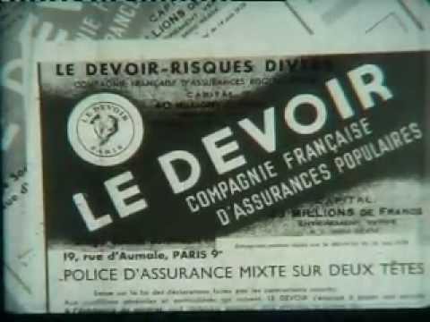 """""""Avec joie et confiance"""" - Publicité des années 50 du Groupe Prévoir"""