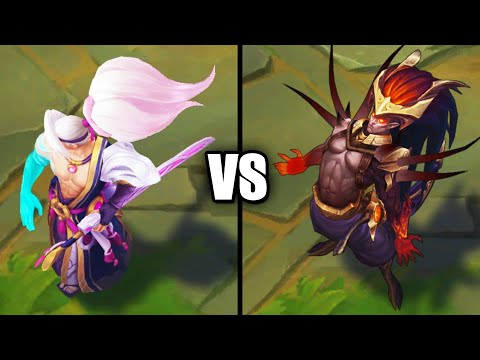 Spirit Blossom Yasuo vs Nightbringer Yasuo Legendary vs Epic Skins Comparison (League of Legends)