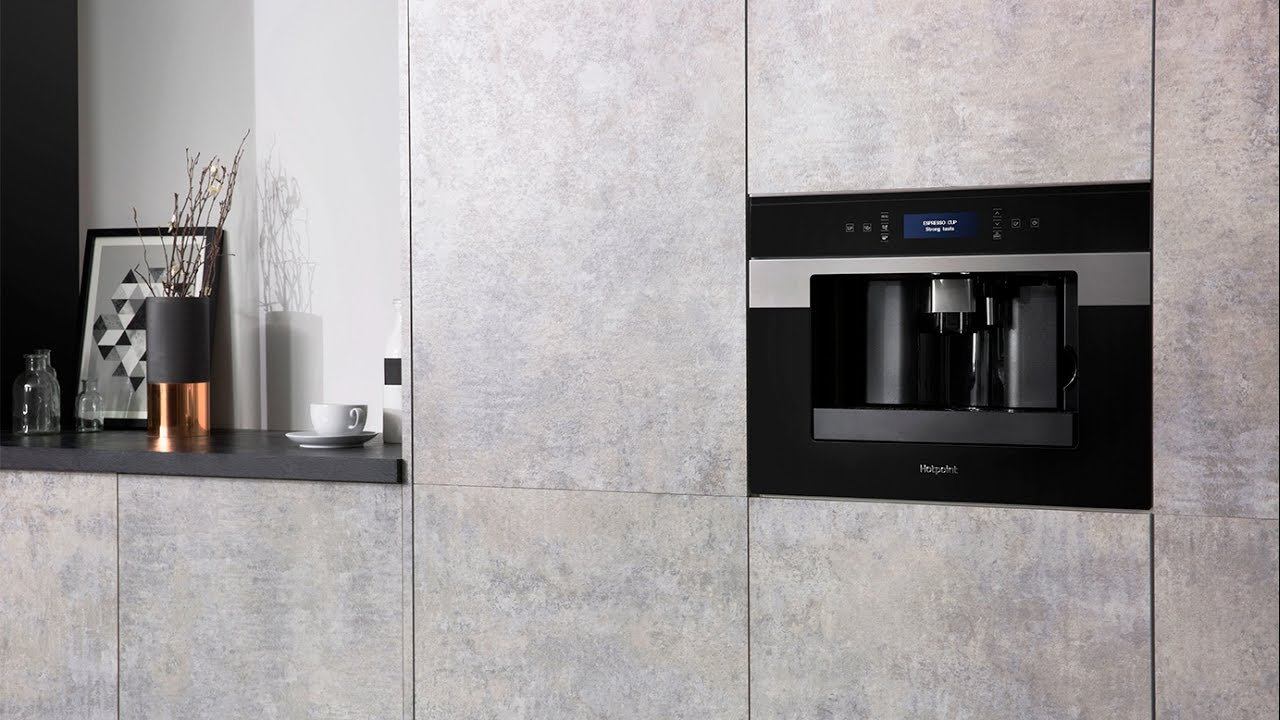 Hotpoint CM9945H Built-in Coffee Machine - YouTube