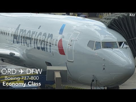 TRIP REPORT | American Airlines | Chicago to Dallas | Boeing 737-800 | Economy Class Experience