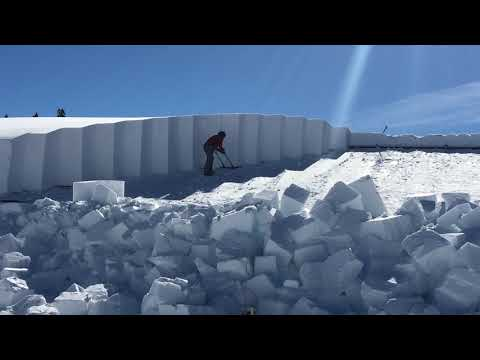Removing Snow from the Roof in Canyon Village