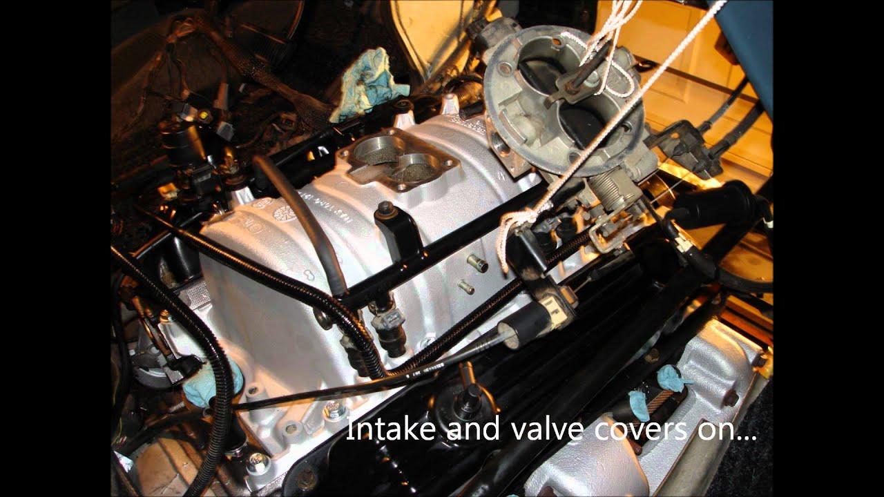 Dodge Ram Van Magnum V8 Motor Installation Youtube