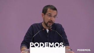 Rueda de prensa de Sergio Pascual sobre los resultados de las primarias en Euskadi y La Rioja