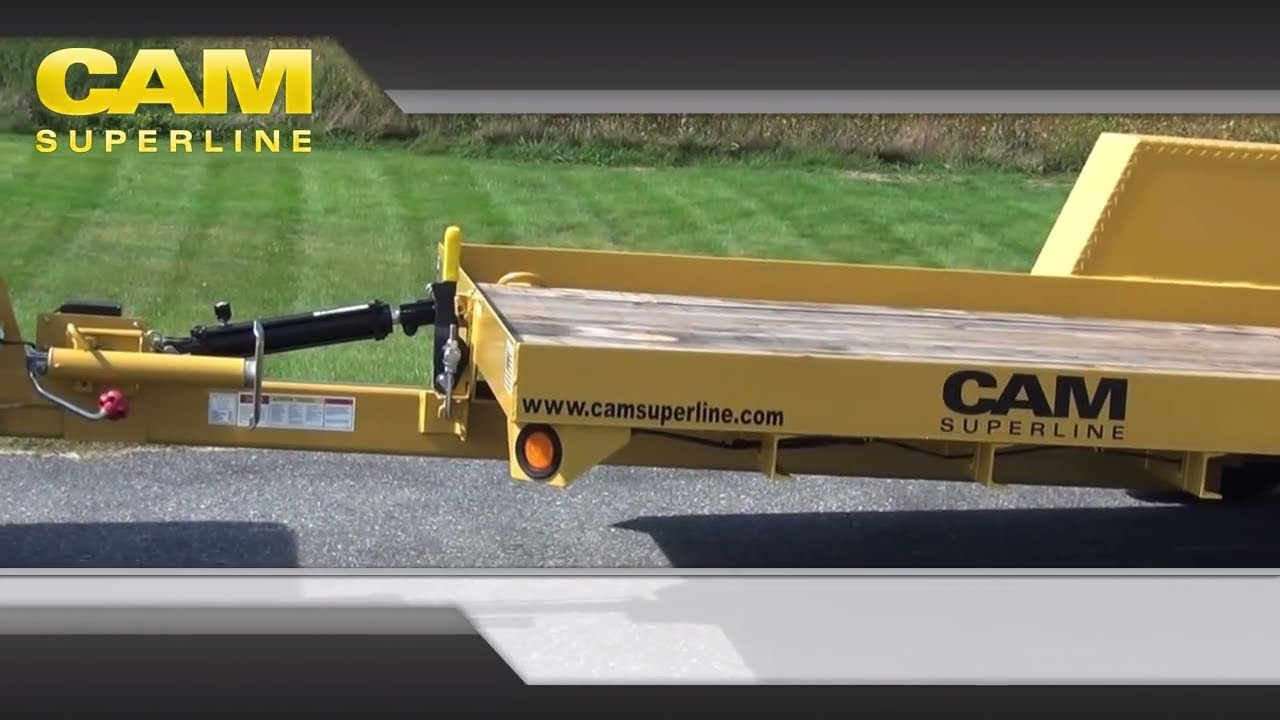 6x12 single axle tilt trailer by cam superline