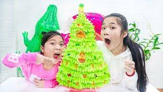 Cách Làm Bánh Sinh Nhật Noel DIY Christmas Birthday Cake - Trang Vlog