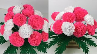 Beautiful Flowers Making With Paper | DIY | Paper Flowers Making |Home Decor | Paper Craft |