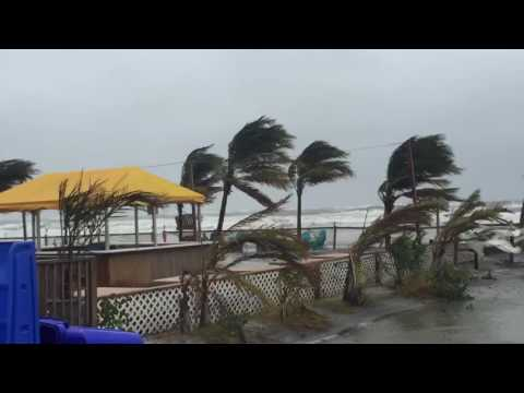 INTENSE tropical storm force winds pound the NJ shore!