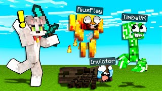 Nos ESCONDEMOS en MONSTRUOS de MINECRAFT 😂 EL ESCONDITE en MINECRAFT ACENIX con INVICTOR