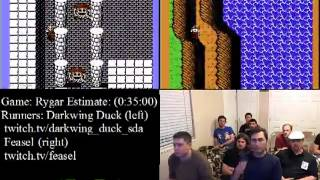 Rygar NES - SPEED RUN Race (26:52.08) Darkwing Duck vs. Feasel - Summer Games Done Quick