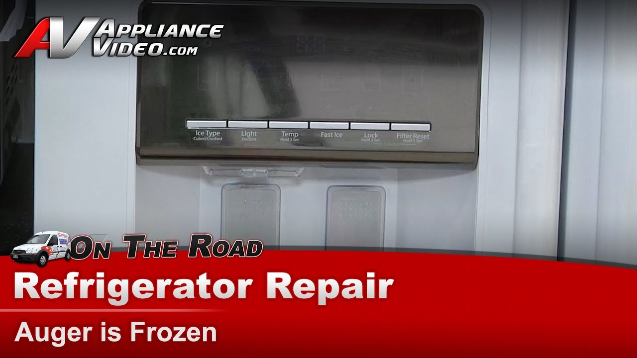 Whirlpool Refrigerator Repair Auger Is Frozen Wsf26c2exw01 Ice Maker Wiring Diagram