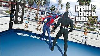 GTA 5 - BATMAN BEYOND VS SPIDER-MAN 2099 (GTA 5 PC MODS)