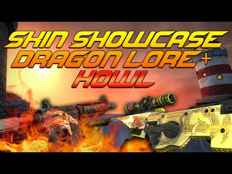 FACTORY NEW AWP DRAGON LORE AND M4A4 HOWL (SKIN SHOWCASE)!