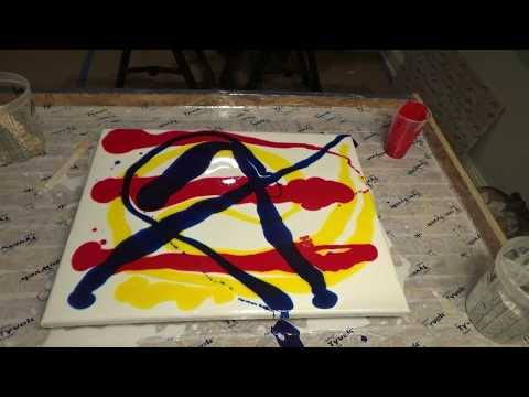 Epoxy resin on canvas 1