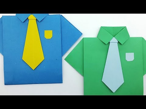 How to make a Paper Neck Tie - Origami Tie making Tutorial