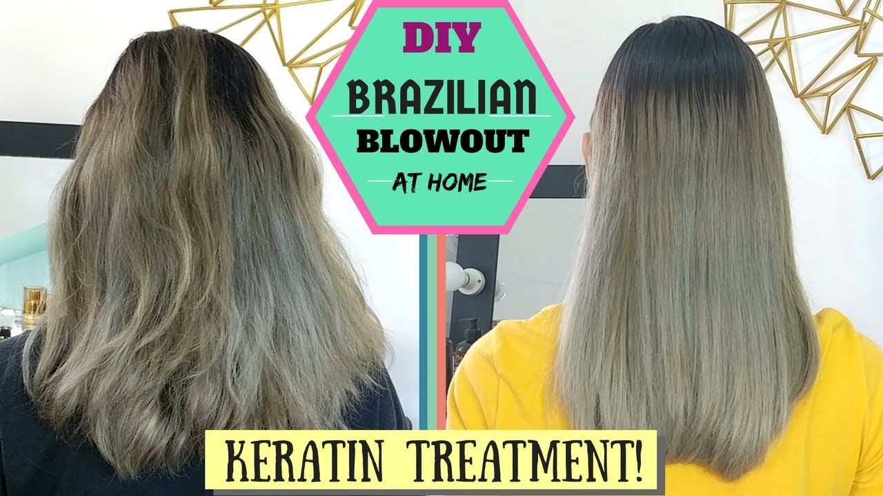 How To Keratin Treatment At Home Diy Brazilian Blowout Lolly