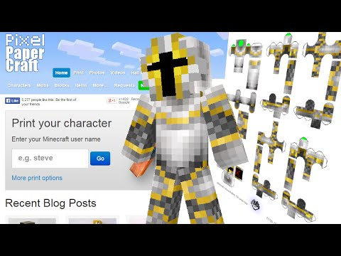 Papercraft How to print your own Minecraft Papercraft Bendable Skin