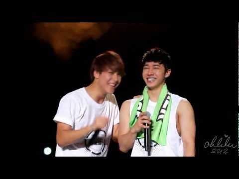 [Fancam] 110701 1st Asia Fanmeet Malaysia - Dongwoon and Kikwang being adorable