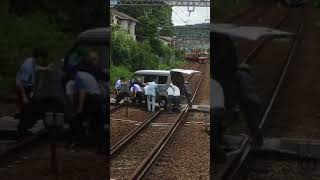 【Twitterで話題】踏切で車故障 餅田コシヒカリ 動画 18