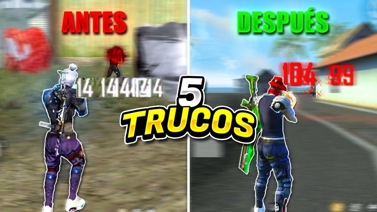 LOS 5 TRUCOS QUE DEBES SABER SI QUIERES DAR TODO ROJO!! // 100% HEADSHOTS - Free Fire