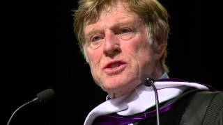 Robert Redford delivers commencement speech at Westminster College