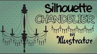 Illustrator - draw a Silhouette Chandelier