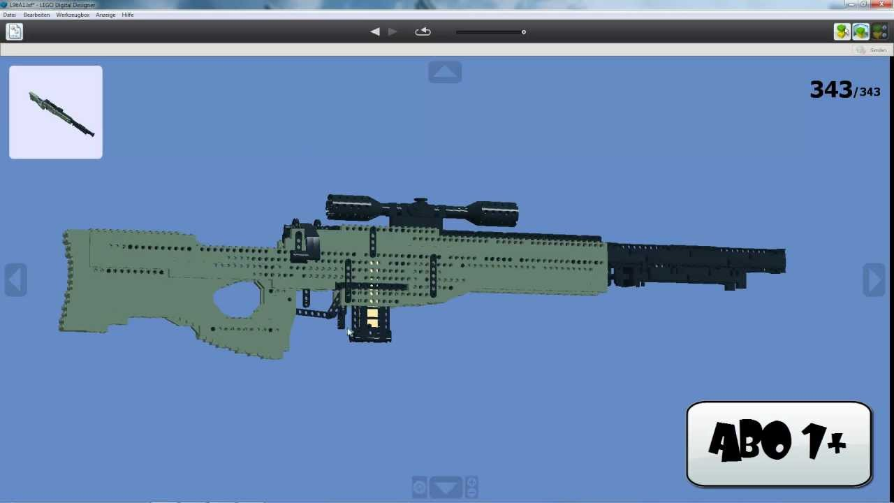 bauanleitung f r lego l96a1 sniper rifle working youtube