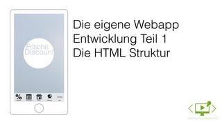 Webapp Entwickeln - Teil 1 - Startscreen