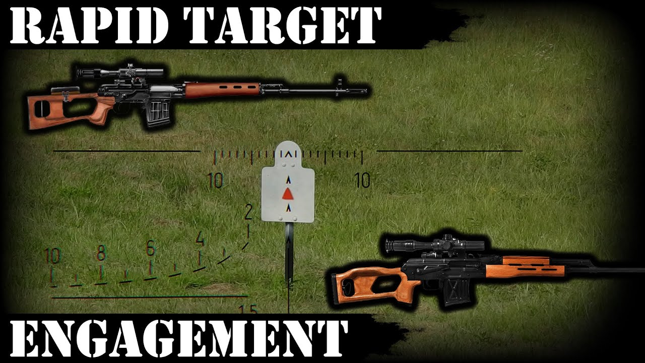 Rapid Target Engagement with PSL 54 or SVD Type rifles
