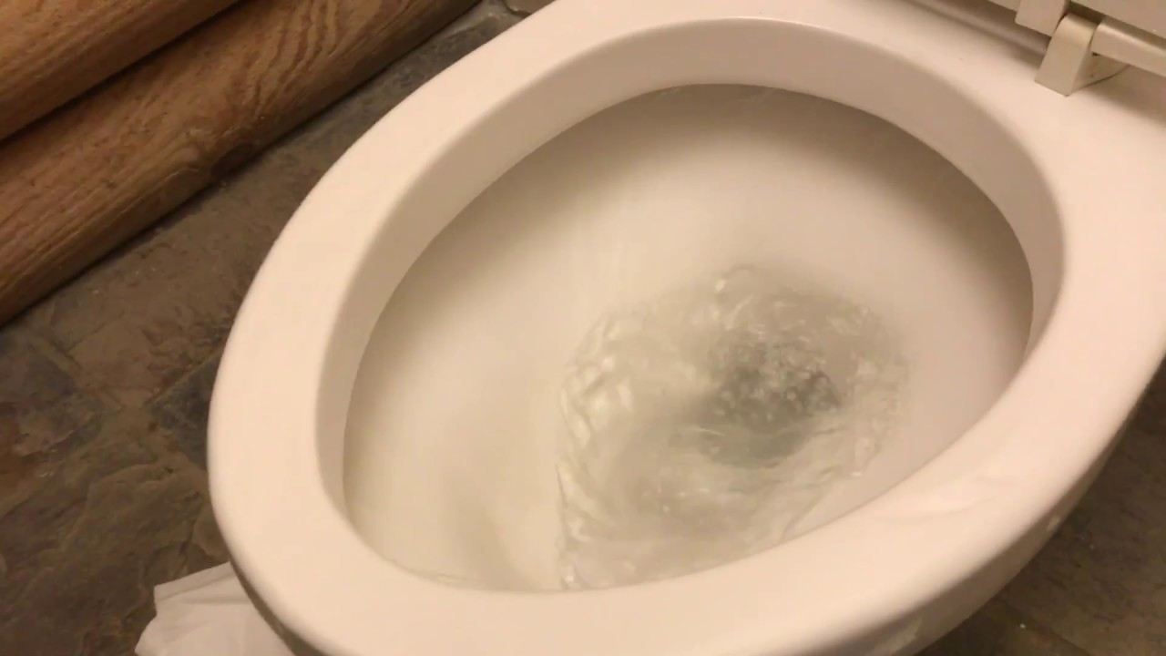 BEST way to clean a toilet using a pumice scouring stick - YouTube