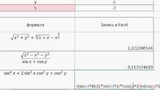 MS Excel - Ввод формул