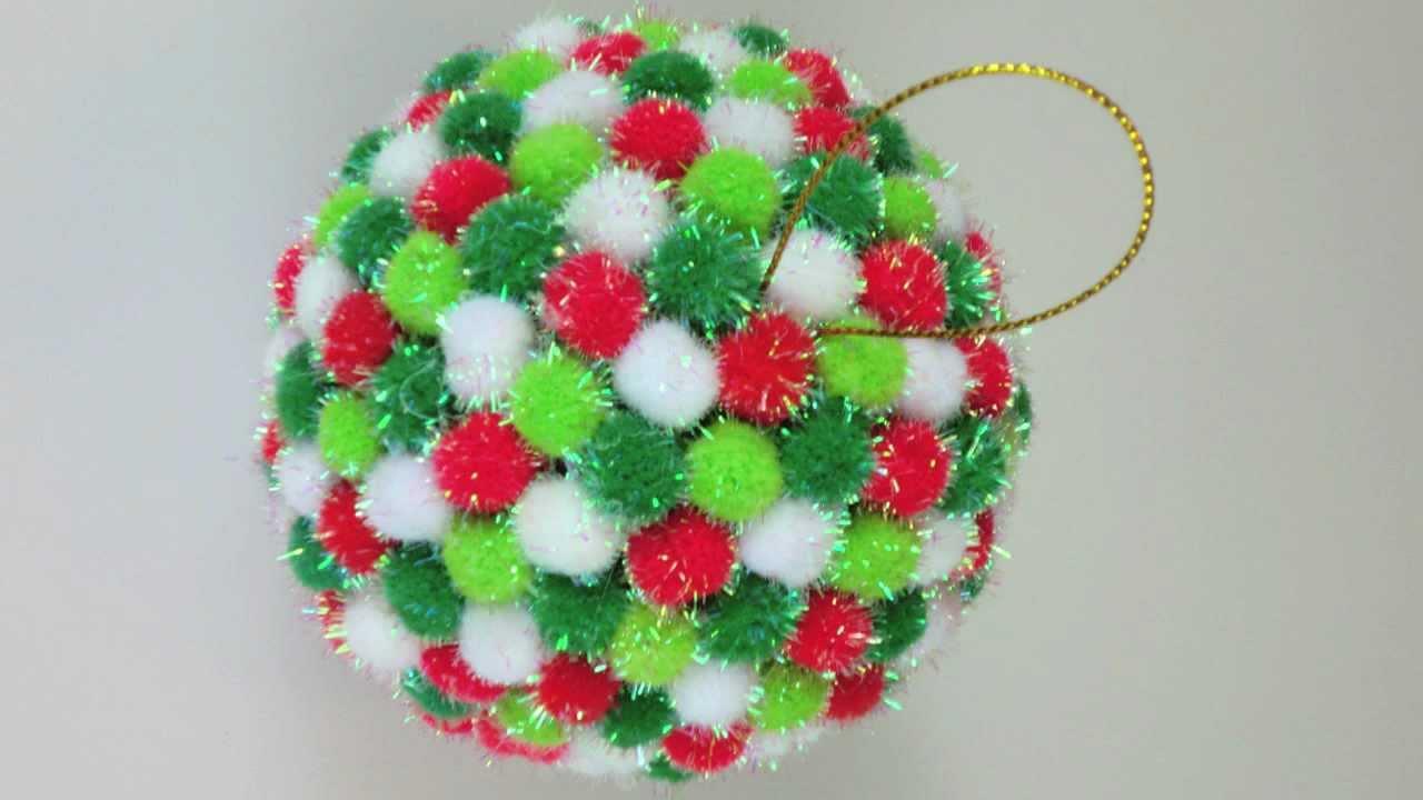 Pom Pom Christmas Ornament Youtube
